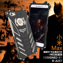 For Xiaomi Max Case Luxury Metal Aluminum Cover Movie Heroes The Dark Knight Batman Element Bumper Case For Xiaomi Mi Max Cover