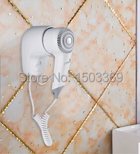2016 Hot selling 1200W Security Wall Mounted Hair Dryer with EU plug Electric Blower for hotel or household with EU plug(China)