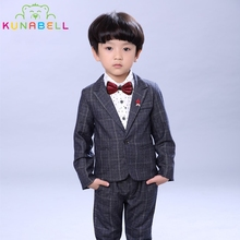 Boys Formal Suits Wedding Tuxedo Birthday Party Dress Jackets Shirt Pants Gentleman Kids Children Blazer Costumes Clothes F13
