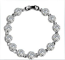 Genuine Solid Sterling Silver Synthetic Diamonds Bracelet for Young Girl Excellent Quality Last Forever