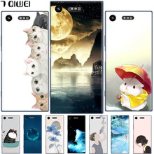 Buy Sony XZ1 Compact Case 4.6 Painted Cartoon Hard PC Back Cover Funda Sony Xperia XZ1 Compact Case Plastic Phone Cases for $2.99 in AliExpress store