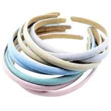 10pcs 12mm Cotton Cover Plastic Alice Hair Bands Headbands DIY Hair Headwear(China)