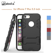 Buy AKABEILA Phone Case Apple iPhone 7 Plus Case iPhone7 Plus Pro 5.5 inch Cover PC PU Hybrid Rubber Coque Fundas for $2.66 in AliExpress store