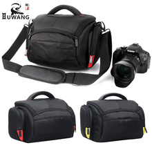 Buy HUWANG Waterproof DSLR Camera Bag Canon Camera Nikon Case Sony alpha A7 Fujifilm Olympus Pentax Panasonic Shoulder Photo Bag for $20.99 in AliExpress store