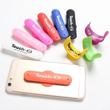 Mini Touch U One Touch Silicone Stand Finger Rings Universal Portable Phone Holder For iPhone 6 5s 7 Samsung Tablet PC 50pcs/lot