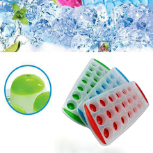 Hot Silicone Ball Shaped Ice Cube Tray Freeze Mould Bar Jelly Candy Chocolate Molds Maker KT0384