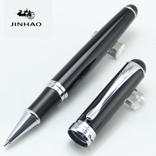 JINHAO 750 Executive Rollerball Pens Black and silver clip Stationery School&Office Supplies luxury writing gift pens