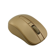 2017 Hot Sale Super Cool 2.4GHZ GOLD Wireless Mouse Wifi Gaming Mouse for Laptop PC Computer Gamer free shipping(China)