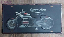 1 pc Custom ride bikes motorcycle shop Tin plates car Licence Plaques vintage metal home Decor tin Signs garage Decoration