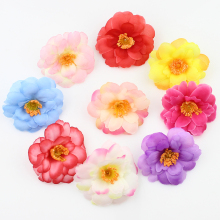20pcs 6cm Silk Plum Artificial Flower Heads for DIY Wedding Decoration Accessories Floristry Fake Flowers(China)