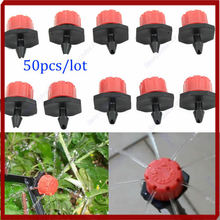 E74 50pcs Micro Flow Dripper Drip Head 1/4'' Hose Garden Irrigation Misting Wholesale Drop Shipping(China)