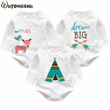 Newborn Baby Clothes owl Animals Onesie Baby Girl Boy Rompers White Cotton Underwear Winter Overalls For Kids Roupa Menina