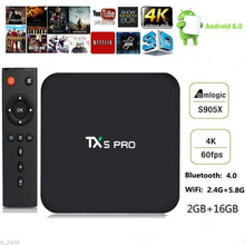 Amlogic S905X 2GB/16GB Smart TV Box TX5 PRO Android 6.0 Quad Core Set-top Box Dual WiFi Airplay Miracast H.265 4K Media Player