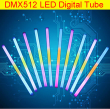 48 Channel DMX512 controlled digital Tube 16Pixel/Tube LED guardrail Tube IP66 RGB building wall screen LED digital tube light