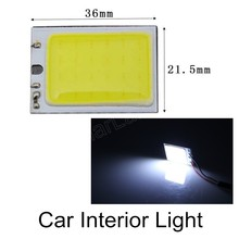 best selling 10 pieces 3W T10 24 SMD COB LED Panel White Car Interior Reading Lamp Bulb Light Dome Festoon Adapter 12V