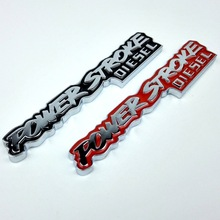 1 PCS 3D Stereo Car Stickers Metal POWER STROKE Auto Logo TURBO Motorcycle Sticker Car Styling Outside Decoration Accessories(China)