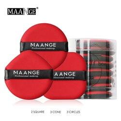MAANGE 2/3/8 шт. спонж для нанесения основы Pro Косметические Puff Красота воздушная подушка для пудры Smooth Wet & Dry двойной Применение губкой инструмен...