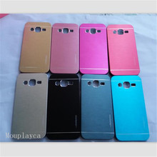 Luxury motomo Metal Brushed shell for Samsung Galaxy J2 J200F,J200G,J210F phone cases Aluminum+ Hard Plastic Back cover