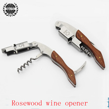 Christmas Gift Laguiole Corkscrew Stainless Steel Layerwood Bottle Opener Sacacorchos Wine Opener for Special Gift Custom(China)