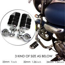 Мотоцикл подножки для Harley Dyna Chrome ног 1992-2013 шоссе 25 мм 32 мм 34 мм для kawasaki для Honda VTX1300C 2004-2009(China)