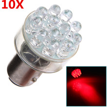 10pcs LED Auto Car Light 1157 BAY15D P21/5W 12SMD Tail Brake Stop Lights Parking Lamp Bulb Red DC12V Car Styling(China)