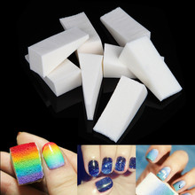 8Pcs/Set Triangle Nail Art Polish Gradient Color Sponge Stamper Gel Tips Stamping Drawing Paintings Image Easy Transfer Foam Kit(China)