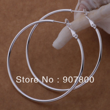 Factory price silver hoop earrings large diameter 5-8CM fashion party jewelry for women Top Quality