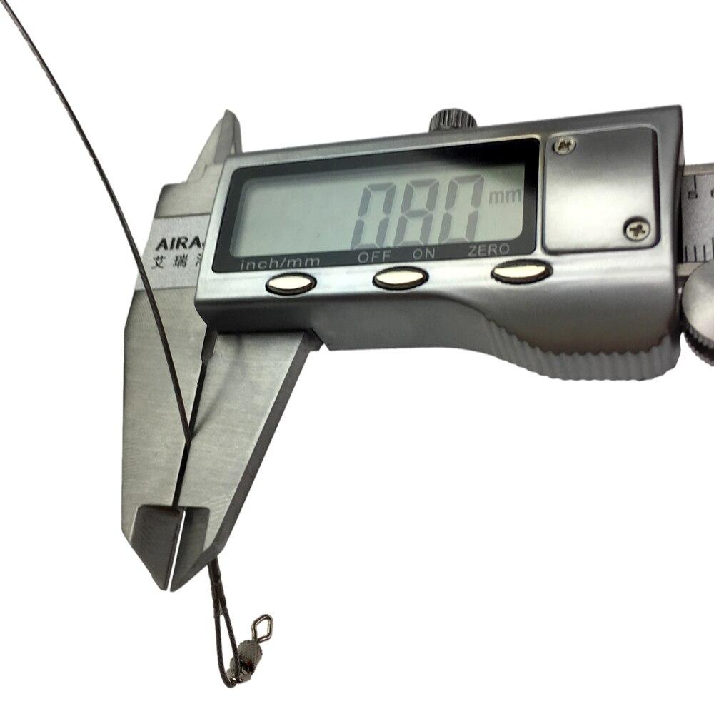 silver fishing line steel wire leader