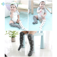 Toddler Baby boy girl knee high sock long boot socks cotton star design new leg warmers For newborns infantile kids children