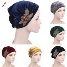 Fashion Accessories Women Cancer Chemo Hat Beanie Scarf Turban Head Wrap Cap Hat Sjaalhoed(China)