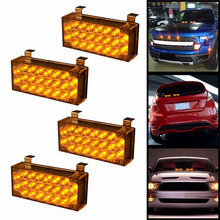 NEW Car Flashing 2*22 4*22 6*22 8*22 Emergency LED Strobe Light Emergency Warning 12v EMS Police Lights 3 Flashing  Modes light