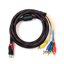 malloom 5ft HDMI to 5RCA Male Audio Video Component Convert Cable 1.5M For HDTV 1080P &Wholesale(China)