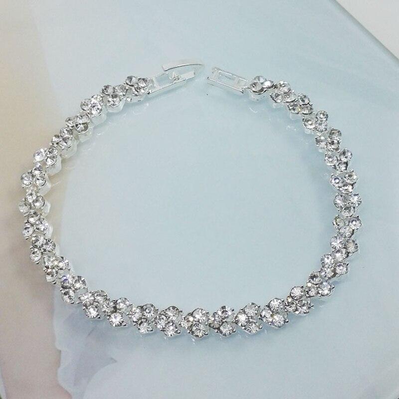 JIAMEN Korean Temperament Bracelet Zircon Jewelry Female Rice Crystal Bangle Bracelet Jewelry