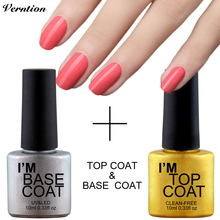 Verntion UV Top Coat Base Coat Foundation for UV Gel Gel Polish soak off long lasting Sapphire Transparent Gel Varnish