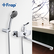 Frap New Arrival Single Handle Bathroom Mixer 35cm Stainless Steel Long Nose Outlet Brass Shower Faucet F2281(China)