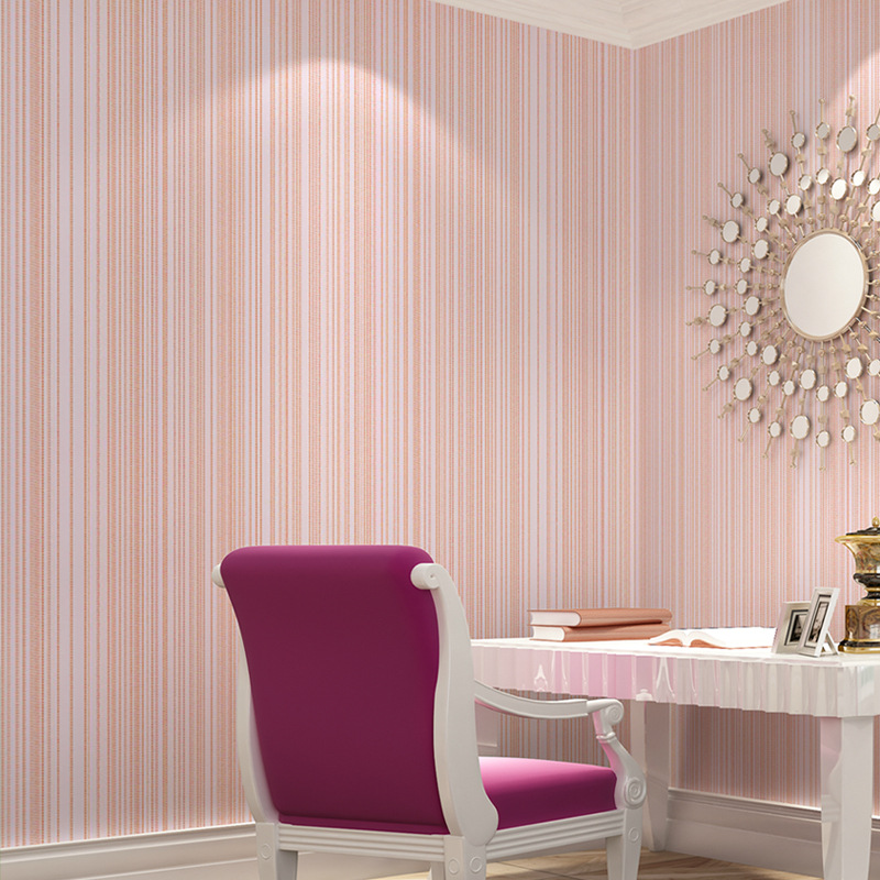 beibehang Modern simple plain stripes non - woven wallpaper multi - color home improvement wallpaper wholesale 9001 series<br>
