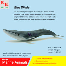 Hot toys Blue Whale Simulation model Marine Animals Sea Animal kids gift educational props (Balaenoptera musculus )