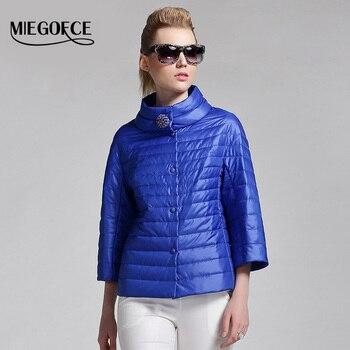 Miegofce 2016 nueva primavera mujeres chaqueta corta capa de la manera outwear chaqueta de algodón acolchado abrigo parka de las mujeres de la alta calidad clothing