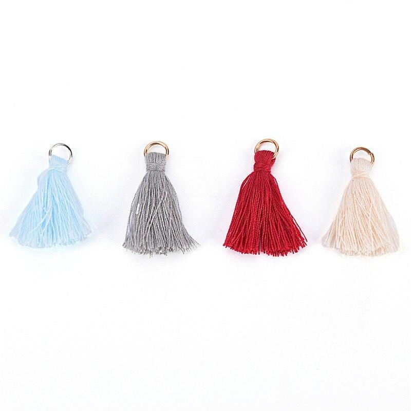 10pcs/lot Cotton Silk Handmade Tassel for Jewelry Embellishment Mini Tassels Fashion silk Brush earrings accessories