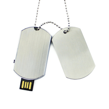 Necklace Military Dog Tag Shape USB Flash Drive Pendrive Memory Stick Disk Pen Driver 4GB 8GB 16GB 32GB 64g Christmas Gift