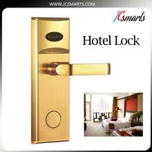 Unique design hotel door locks security keyless lock swiping card for hotel access control system