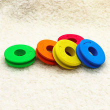 Cheap 10pcs/lot 6.9CM EVA Foam Board with Hole Fishing Tackle Coil Spool Bobbin Winding Board Saltwater Fishing Tool Accessory