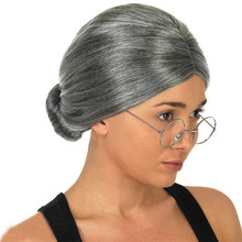 Halloween Imixlot 1 Pc Gray Color Grandmother Hair Wig In Extensions For Women Actors Party Cosplay