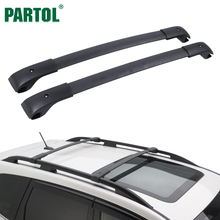 Partol Matt Car Roof Rack Cross Bars Crossbars for Subaru XV Crossstrek 2013-2017 With Adjustable Bars And 68KG/150LBS Capacity(China)