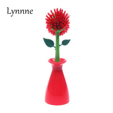 Lynnne New Creative Flower Brush Cleaning Brush Bathroom Kitchen Supplies Manufacturers Direct Gadget(China)