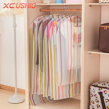 1pc Waterproof Transparent Suit Dust Cover Dress Clothing Skirt Jacket Coat Dustproof Protector Storage Bag Garment Cover Bag