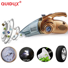 QUIDUX 4 in 1 Multi-function 120W Wet And Dry Dual Use Vacuum Cleaner with 150 PSI Car Inflatable pump Auto Air Compressor(China)