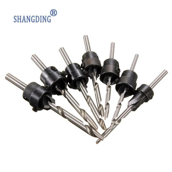 Carpentry Countersink Drill Bit 7PCS Set Woodworking Tools 5-10# and 12#  Core Drill Bit<br><br>Aliexpress