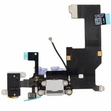 Hot Sale 100% Original Black Or White Charger Dock USB Charging Port Plug Flex Cable For Iphone 5 5G With Headphone Jack Version
