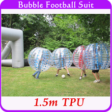 Factory wholesale! Outdoor games bubble soccer plastic TPU 1.5m inflatable bubble body zorbing ball suit dropshipping